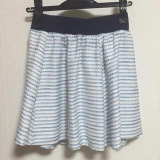 セシルマクビー(CECIL McBEE)の【最終価格】セシルマクビー ツイード風スカート ブルー(ミニスカート)
