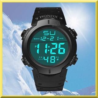 HONHX スポーツ ダイバー ウォッチ デジタル アウトドア 日常生活防水(腕時計(デジタル))