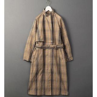 ビューティアンドユースユナイテッドアローズ(BEAUTY&YOUTH UNITED ARROWS)の6(ROKU) COTTON LINEN CHECK COAT コート 36(ロングコート)
