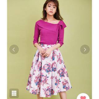 トランテアンソンドゥモード(31 Sons de mode)のトランテアン 花柄スカート(ひざ丈スカート)