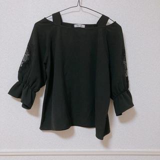 ナチュラルクチュール(natural couture)のnatural couture ブラウス ブラック(シャツ/ブラウス(長袖/七分))