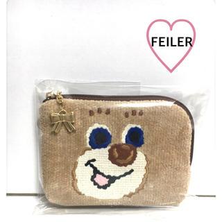 FEILER - 【FEILER】ドアップテディポーチL♡新品未使用♡ゆらゆらリボンチャーム