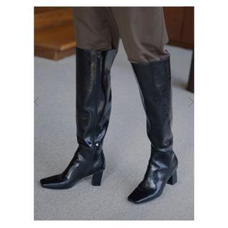 アメリヴィンテージ(Ameri VINTAGE)のアメリヴィンテージ ニーハイブーツECO LEATHER LONG BOOTS(ブーツ)