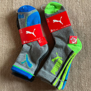 プーマ(PUMA)のプーマ ソックス 靴下 6足セット 23~25cm ① 新品(靴下/タイツ)