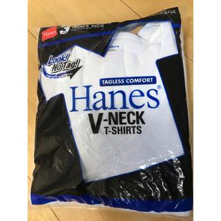 ヘインズ(Hanes)のHanes 白Tシャツ Vネック 3枚パック(Tシャツ/カットソー(半袖/袖なし))