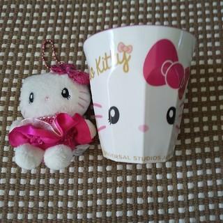 ハローキティ - キティちゃんのカップとマスコットのセット