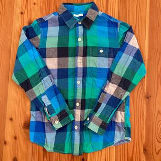 GU - GU  フランネルチェックシャツ 140