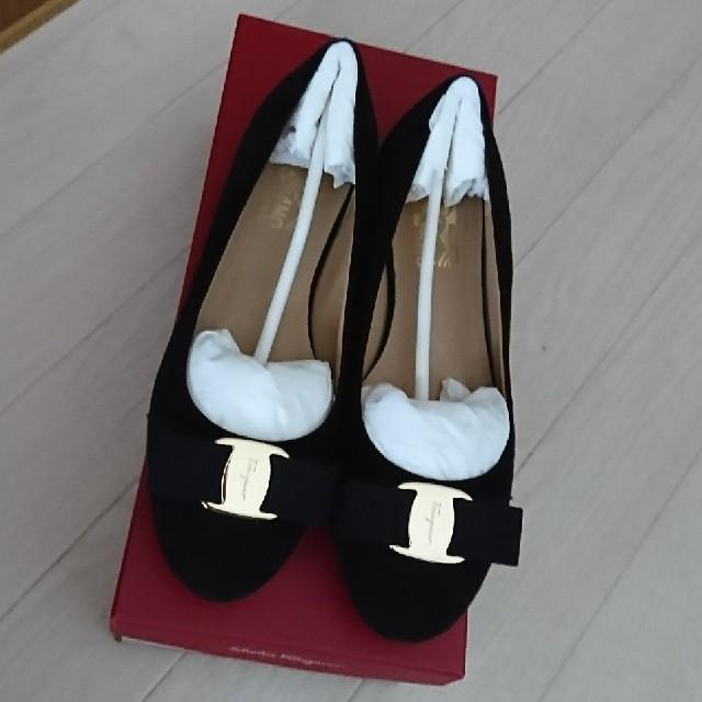 Ferragamo(フェラガモ)のFerragamo フラットシューズ ヴァリナ 黒 レディースの靴/シューズ(バレエシューズ)の商品写真