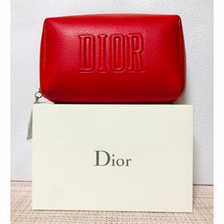 ディオール(Dior)の【新品未使用】Dior ディオール  ポーチ 2020 レッド ノベルティ(ポーチ)
