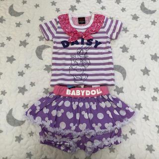 ベビードール(BABYDOLL)の 新品 BABY DOLL ディズニー Tシャツ かぼちゃパンツ 2点セット (Tシャツ)