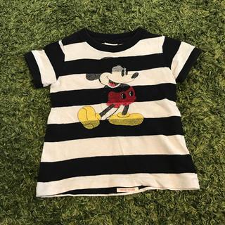 デニムダンガリー(DENIM DUNGAREE)のデニムダンガリー 激かわミッキー tシャツ90サイズ(Tシャツ/カットソー)