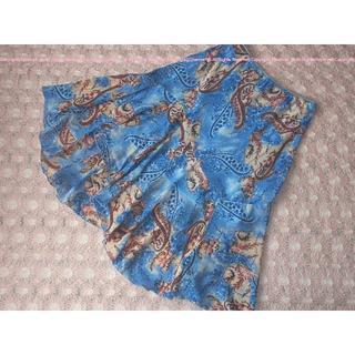 イング(INGNI)のタイ購入!女性らしいふんわり裾揺れアシンメトリースカート/M(ロングスカート)