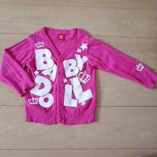 ベビードール(BABYDOLL)の美品 BABYDOLL  ♡ カーディガン 90(カーディガン)