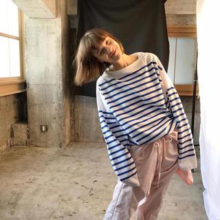 コモリ(COMOLI)のOUTIL TRICOT AAST Size2 バスクシャツ(Tシャツ/カットソー(七分/長袖))