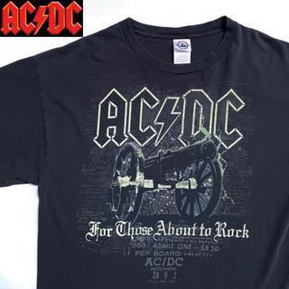 ヘインズ(Hanes)の【バンT】【レア】AC/DC 悪魔の招待状 オフィシャルマーチ ビンテージ(Tシャツ/カットソー(半袖/袖なし))