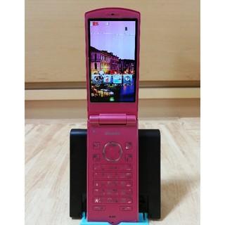エヌティティドコモ(NTTdocomo)の携帯電話 docom N-01F ピンク (携帯電話本体)
