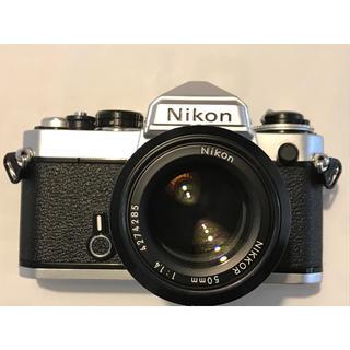Nikon - 本格的 フイルム一眼レフカメラ Nikon EF 定番の50mm 単焦点レンズ