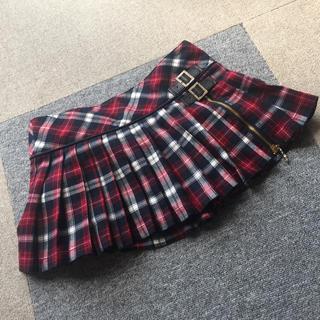 セシルマクビー(CECIL McBEE)のセシルマクビー 赤 チェックスカート(ミニスカート)