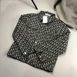 Dior - ファッション 刺繍ロゴ ロゴボタン  長袖シャツ    デニムシャツ