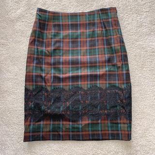 エディットフォールル(EDIT.FOR LULU)のLulu チェックタイトスカート(ひざ丈スカート)