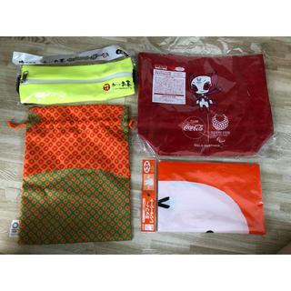 コカコーラ(コカ・コーラ)のマラソンウエストポーチ 東京2020巾着 ノベルティ ミッフィートートバックエコ(ノベルティグッズ)