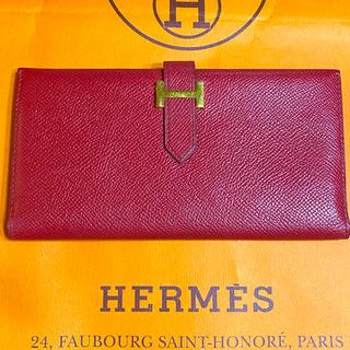 Hermes - エルメス⭐️ベアン クラッシック 長財布 ⭐️ レッド