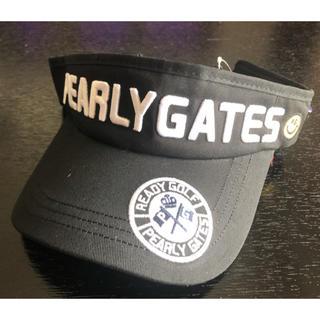 パーリーゲイツ(PEARLY GATES)のパーリーゲイツ サンバイザー【ブラック】(サンバイザー)