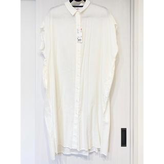 ユニクロ(UNIQLO)のリネンブレンドロングシャツ 新品(シャツ/ブラウス(半袖/袖なし))