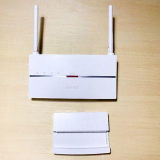 バッファロー(Buffalo)のWEX-1166DHP Wi-Fi中継機(PC周辺機器)