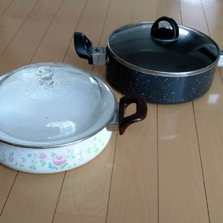 昭和 レトロ 鍋 ホーロー鍋(鍋/フライパン)