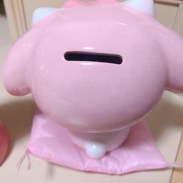 マイメロディ(マイメロディ)のサンリオ マイメロディ 陶器 貯金箱 2セット エンタメ/ホビーのおもちゃ/ぬいぐるみ(キャラクターグッズ)の商品写真