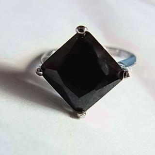 新品18KGPリング指輪7号メッキ1粒ブラック黒色ピンキーリング男性メンズ女性(リング(指輪))
