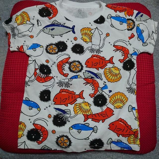 Design Tshirts Store graniph(グラニフ)の新品未使用 graniph キッズTシャツ 130 すし 魚 グラニフ キッズ/ベビー/マタニティのキッズ服男の子用(90cm~)(Tシャツ/カットソー)の商品写真