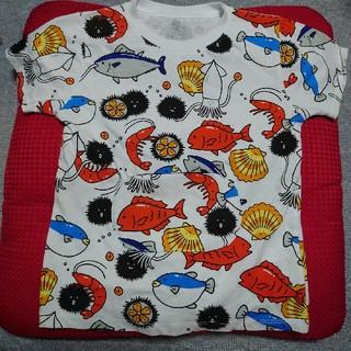 Design Tshirts Store graniph - 新品未使用 graniph キッズTシャツ 130 すし 魚 グラニフ
