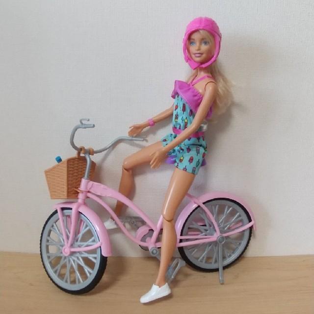 Barbie(バービー)のBarbie Barbie自転車 バービー人形  キッズ/ベビー/マタニティのおもちゃ(ぬいぐるみ/人形)の商品写真