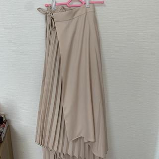 rienda - ラッププリーツフレアロングスカート