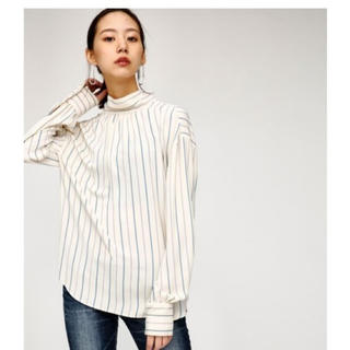 moussy - MOUSSY【新品未使用】STRIPE BACK BOW BLOUSE