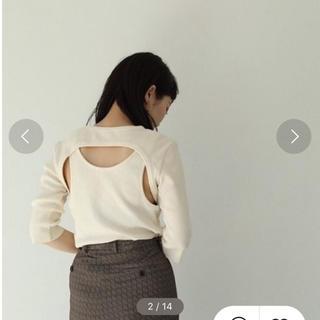 トゥデイフル(TODAYFUL)のBackLayered Rib Tops 最終値下げ(Tシャツ(長袖/七分))