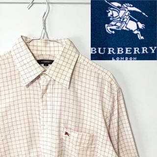 BURBERRY - 希少!BURBERRY ロンドンホースマーク ウインドペンチェック ドレスシャツ