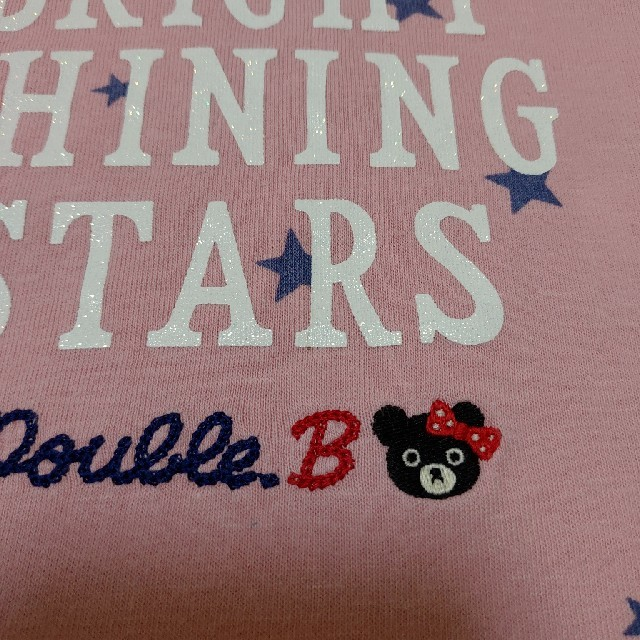 mikihouse(ミキハウス)のミキハウス 長袖ティシャツ2枚セット 100 キッズ/ベビー/マタニティのキッズ服女の子用(90cm~)(Tシャツ/カットソー)の商品写真