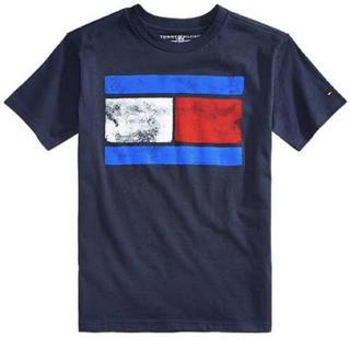 トミーヒルフィガー(TOMMY HILFIGER)の新品 トミーヒルフィガー ビッグロゴ 半袖Tシャツ 白 トップス 刺繍 フラッグ(Tシャツ/カットソー(半袖/袖なし))