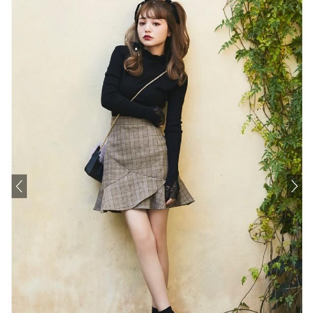 GRL(グレイル)のグレイル インパン付 グレンチェックフリルヘムチェックスカート レディースのスカート(ミニスカート)の商品写真