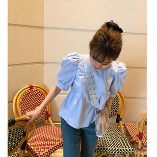 ロキエ(Lochie)のBibiy. babyblue pepuramu blouse bibiy(シャツ/ブラウス(半袖/袖なし))