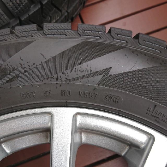 【さぶさぶ17様専用】スタッドレスタイヤ+ホイール+ナット 4本セット  自動車/バイクの自動車(タイヤ・ホイールセット)の商品写真