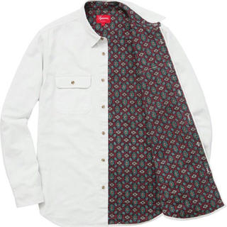Supreme - Supreme'flannel lined twill shirt'ペイズリー