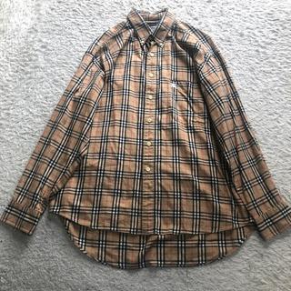 BURBERRY - 古着 美品 オールド バーバリー  チェック 長袖シャツ