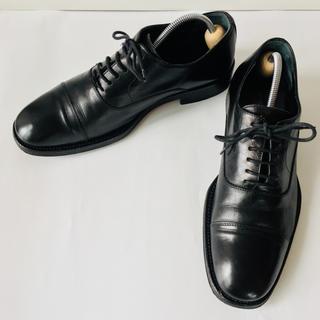 Banana Republic - 【美品】バナナ・リパブリック 革靴 イタリア製 黒 25.5cm 除菌・消臭済み