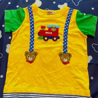 ミキハウス(mikihouse)のミキハウス ワッペンTシャツ プッチー 100(Tシャツ/カットソー)