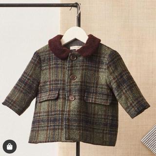 キャラメルベビー&チャイルド(Caramel baby&child )のCARAMEL 2019AW チェックコート 深緑色(ジャケット/コート)