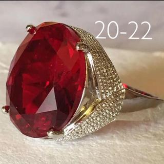 人工ルビー❤️synthetic ruby ビック 20-22 大きなサイズ(リング(指輪))